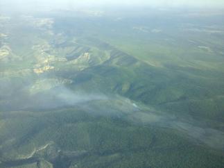 Incendio declarado en Monteagudo de las Salinas