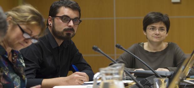 Ander Rodríguez en una comparecencia en el Parlamento Vasco