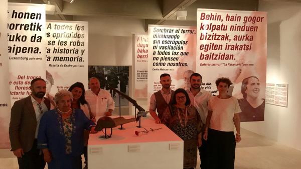 Exposición sobre la Guerra Civil en Gipuzkoa.