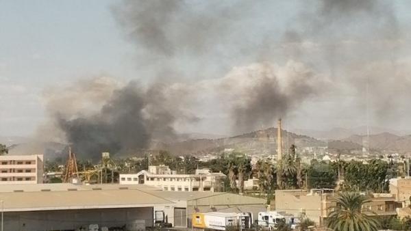 Columna de humo provocada por incendio en Puente Tocinos