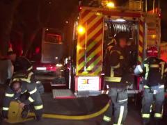 Incendio en una clínica de Madrid