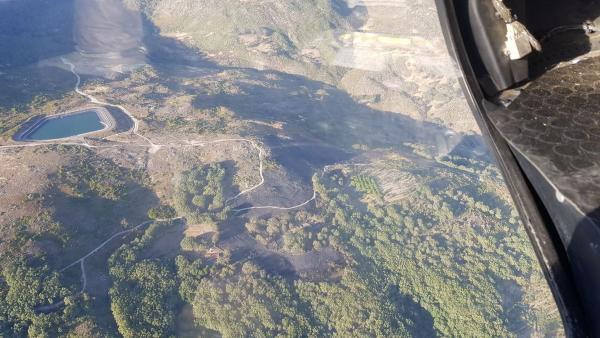 Imagen del incendio de Aldeanueva de la Vera declarado el pasado lunes