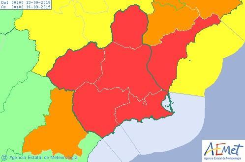 Riesgo en Murcia y Alicante