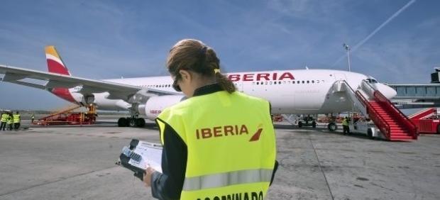 Personal de Iberia, en imagen de archivo