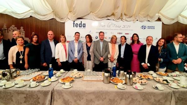 Desayuno ferial de la Asociación de Mujeres Empresarias de Albacete y Provincia (AMEPAP) en la Feria de Albacete.