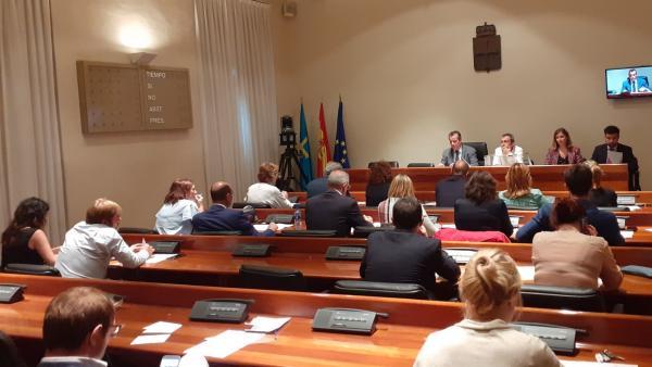Consititución de las comisiones permanentes de la Junta General