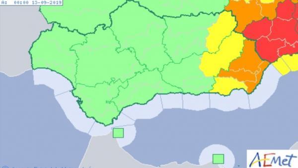 Mapa de previsión meteorológica para el 12 de septiembre de 2019