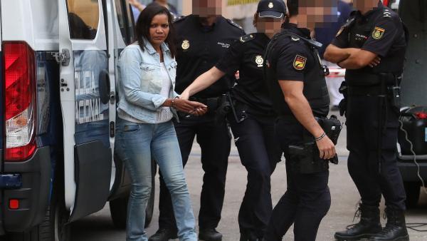 La autora confesa de la muerte del niño Gabriel Cruz, Ana Julia Quezada, a la llegada a la Audiencia Provincial de Almería, en la tercera sesión del juicio.