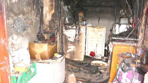 Estado en que quedó la vivienda tras el incendio