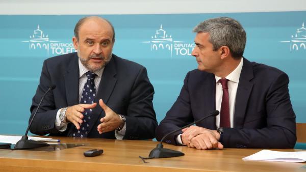 El vicepresidente del Gobierno, José Luis Martínez Guijarro, se reúne con el presidente de la Diputación de Toledo, Álvaro Gutiérrez