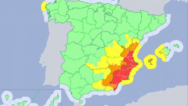 Mapa meteorológico 13/09/2019