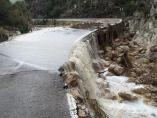 Carretera inundada en Moixent