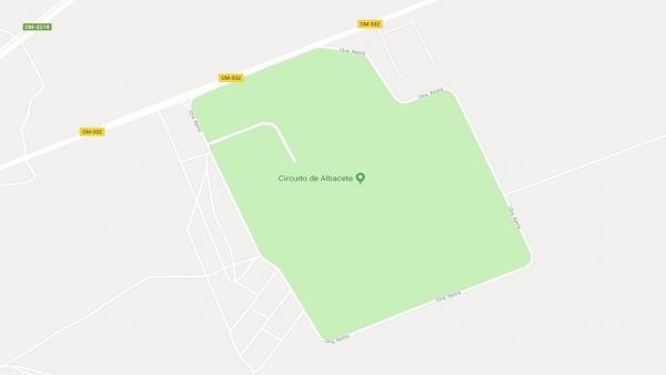Imagen en Google Maps del circuito de Albacete