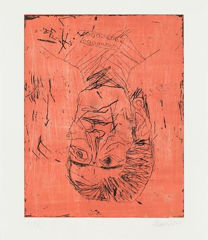 Georg Baselitz. Madame Rousseau II rose. Devotion. Galería Pilar Serra.