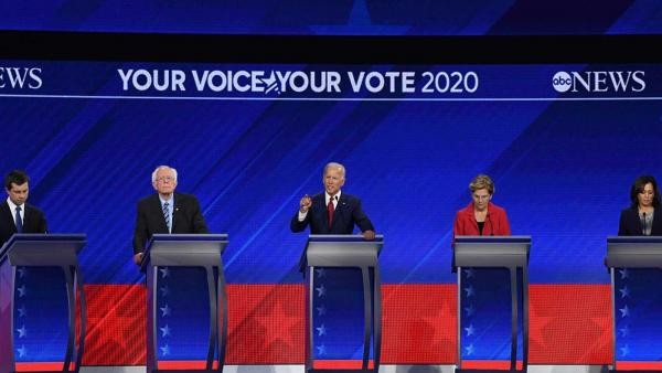 Debate entre los candidatos demócratas a la Casa Blanca.