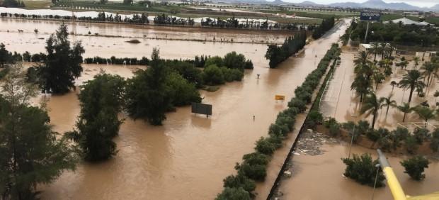 Imagen de las inundaciones en Los Alcázares (Murcia) causadas por la DANA