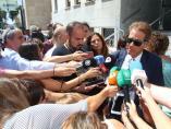 Esteban Hernández,  abogado de  Ana Julia Quezada,  en declaraciones a la prensa después  de salir de la Audiencia de Almería, en la primera  la primera sesión del juicio por el asesinato del niño Gabriel Cruz Ramírez.