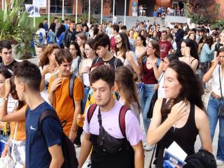 Jornada de bienvenida a estudiantes en la Universidad Pablo de Olavide (UPO) de Sevilla.