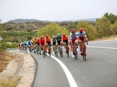 El pelotón de La Vuelta