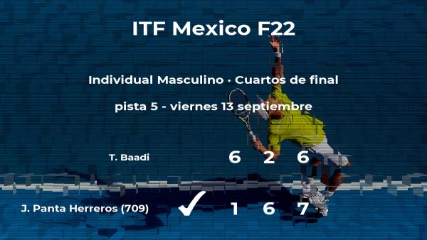 El tenista Jorge Brian Panta Herreros logra el puesto de las semifinales a expensas del tenista Taha Baadi