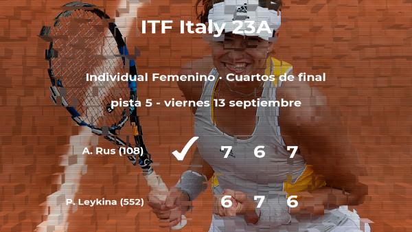 Arantxa Rus consigue clasificarse para las semifinales del torneo de Santa Margherita Di Pula