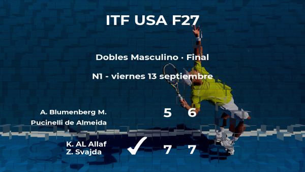 Triunfo para AL Allaf y Svajda en la final del torneo de Champaign