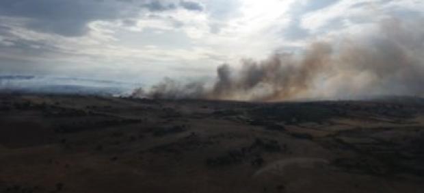 Incendio en Grisuela (Zamora).
