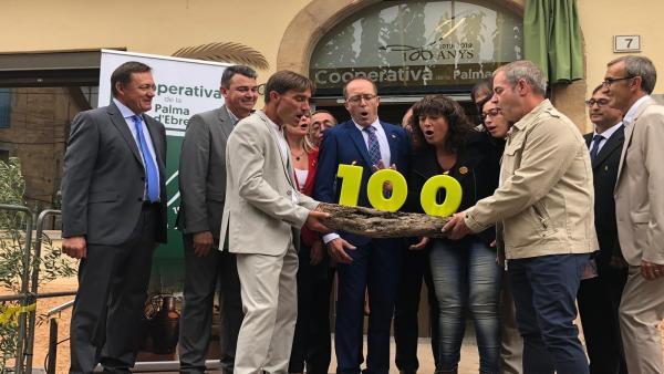 Celebración del centenario de la Cooperativa Agrícula de la Palma d'Ebre (Tarragona)