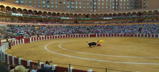 Plaza de Toros de Valladolid durante uno de los festejos de la Feria.