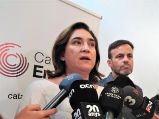 Ada Colau y Jaume Asens (CatComú, Catalunya en Comú).