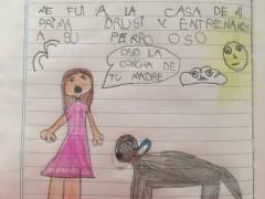El dibujo de la pequeña