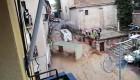 El agua arrastra una unidad médica en Arganda