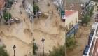 La riada se lleva un coche en Arganda