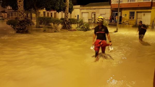 Efectos del temporal en Alicante