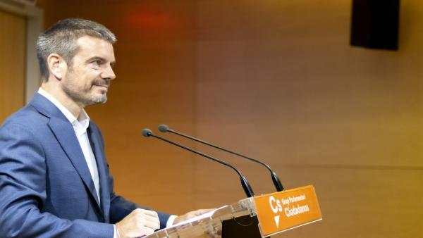 El diputado de Cs, Marc Pérez Ribas, en rueda de prensa