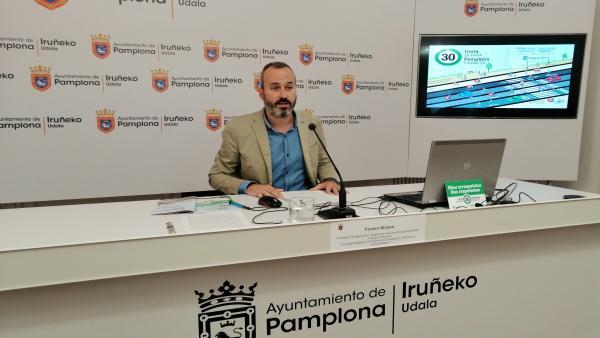 El concejal delegado de Proyectos Estratégicos, Movilidad y Sostenibilidad del Ayuntamiento de Pamplona, Fermín Alonso