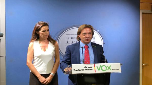 El presidente de Vox Baleares, Jorge Campos.