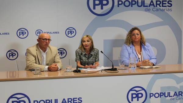 Rueda de prensa de la presidenta del PP de Canarias, Australia Navarro