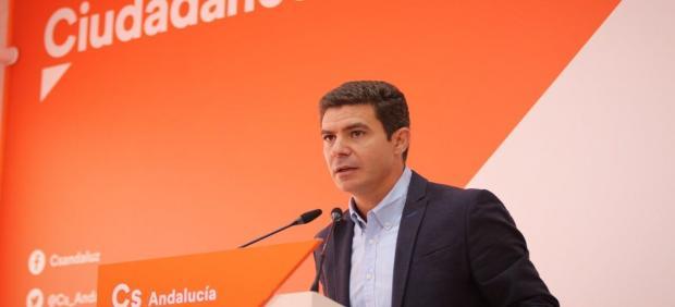 Sergio Romero, portavoz de Cs en el Parlamento andaluz y diputado autonómico por Cádiz, en una imagen de archivo.
