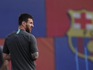 Leo Messi se entrena con normalidad y vuelve a una lista