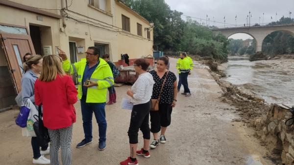 Zona de Cantereria en Ontinyent afectada por las lluvias
