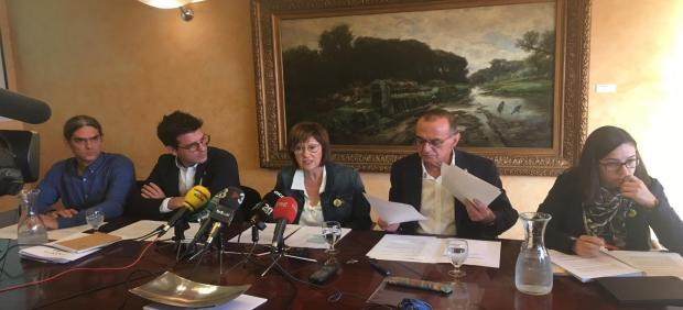 Sergi Talamonte, Toni Postius, Montse Pifarré, Miquel Pueyo y Jordina Freixanet