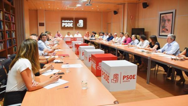 Comisión Ejecutiva Provincial del PSOE, presidida por Susana Díaz