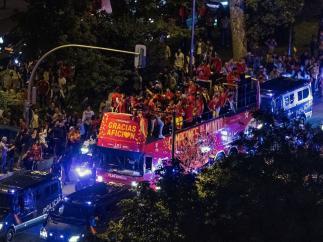 Las mejores imágenes de la fiesta de los campeones mundiales de 'basket'