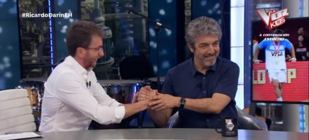 Pablo Motos y Ricardo Darín, en 'El hormiguero'.