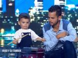 Pablo y su padre, en 'Got Talent'.