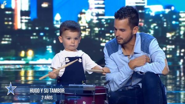 Hugo y su padre, en 'Got Talent'
