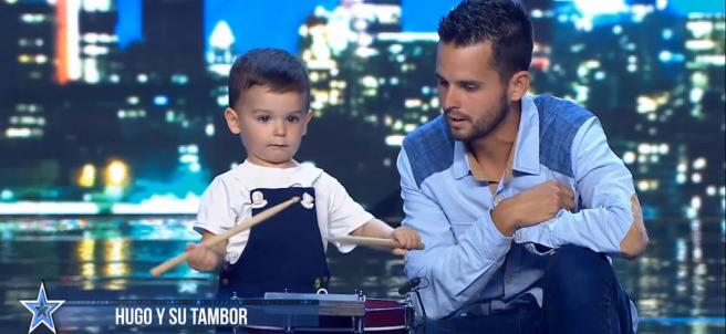 Pablo y su padre, en 'Got Talent'.