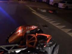 Accidente de moto en Madrid