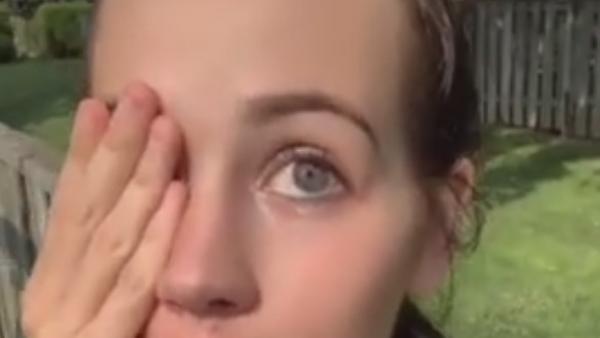 Los ojos de esta chica cambian de color en segundos